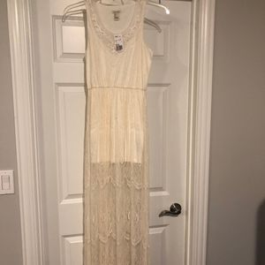 Women's Forever 21 Size Small Ivory Dress